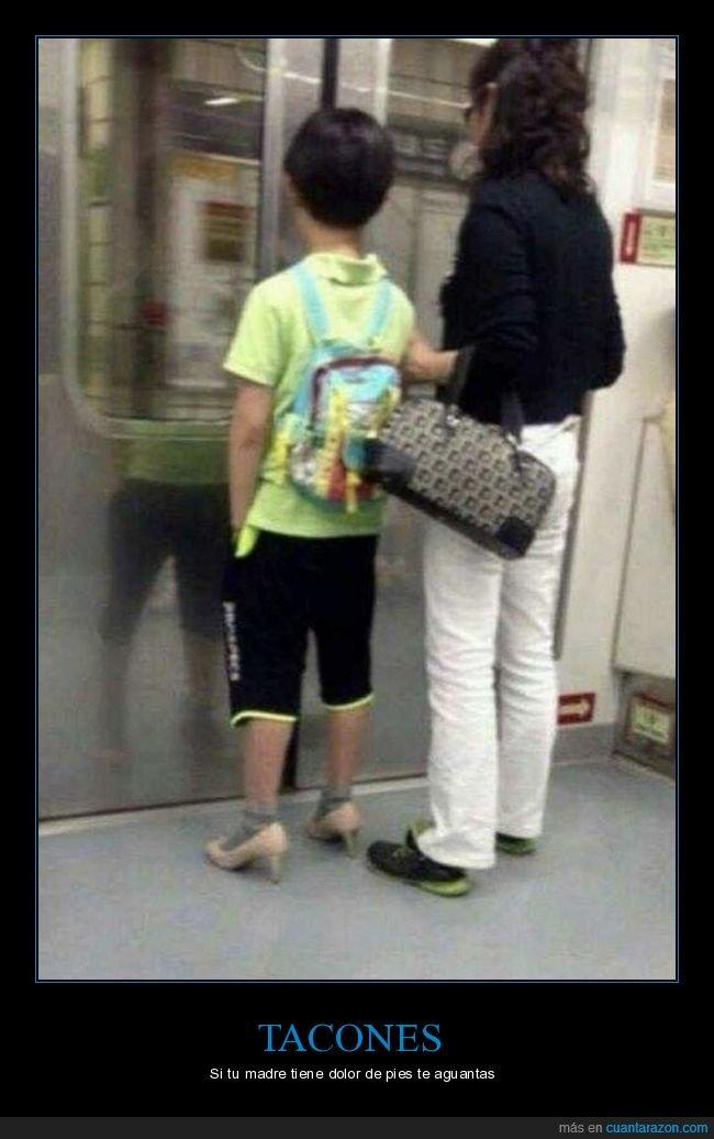 hijo,madre,tacones,wtf,zapatos