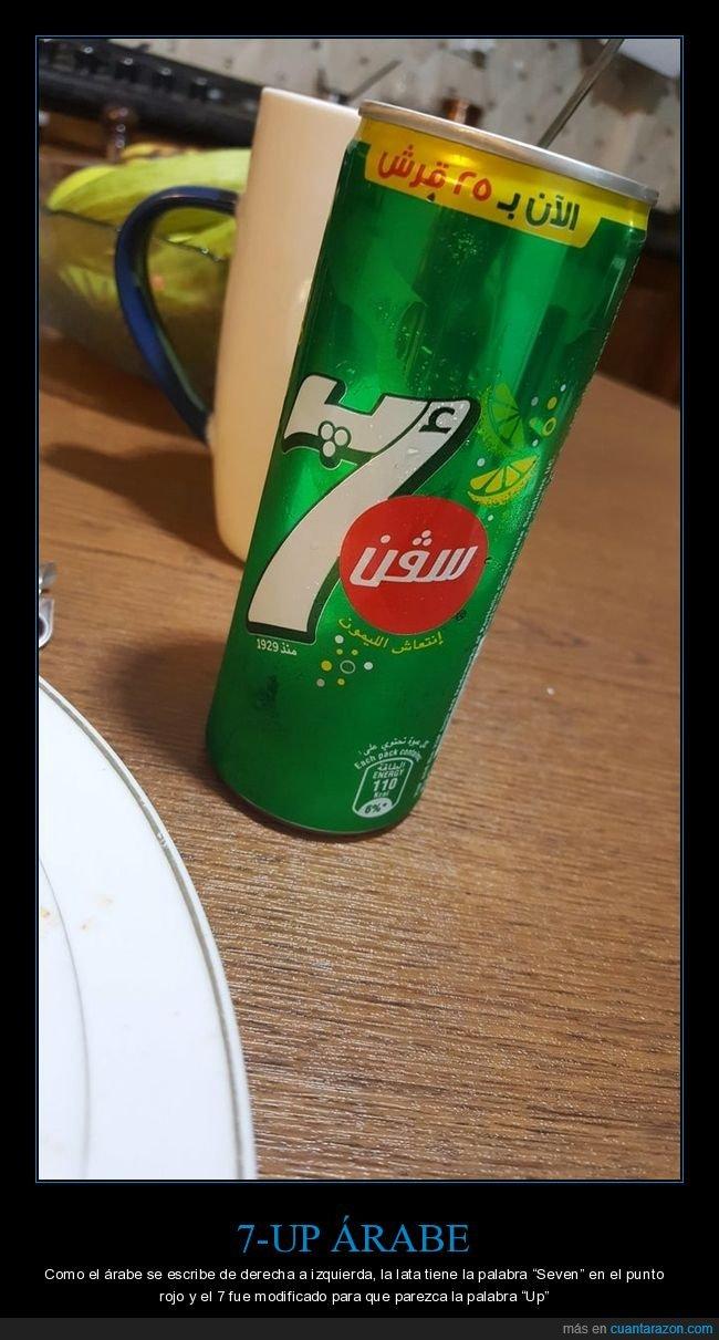 7up,árabe,lata