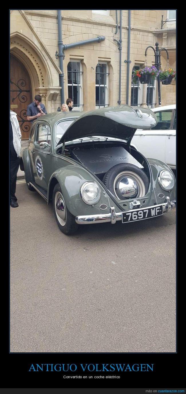 antiguo,coche,eléctrico,volkswagen