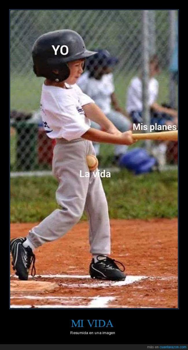 baseball,fail,niño,pelota,planes,vida