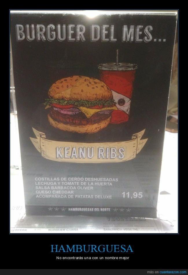 hamburguesa,keanu reeves,keanu ribs,nombre,wtf