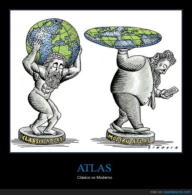 atlas,clásico,moderno,tierra plana