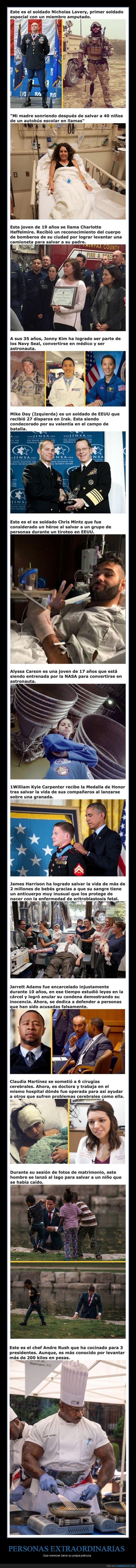 héroes,personas extraordinarias