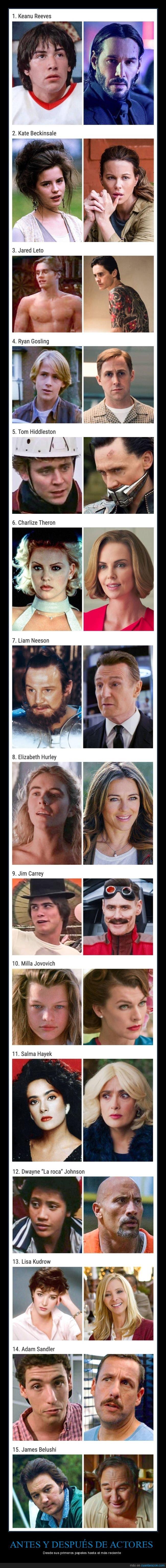 actores,antes,cine,después,primeros papeles