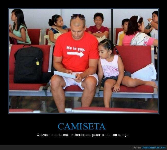 camiseta,gay,hija,padre