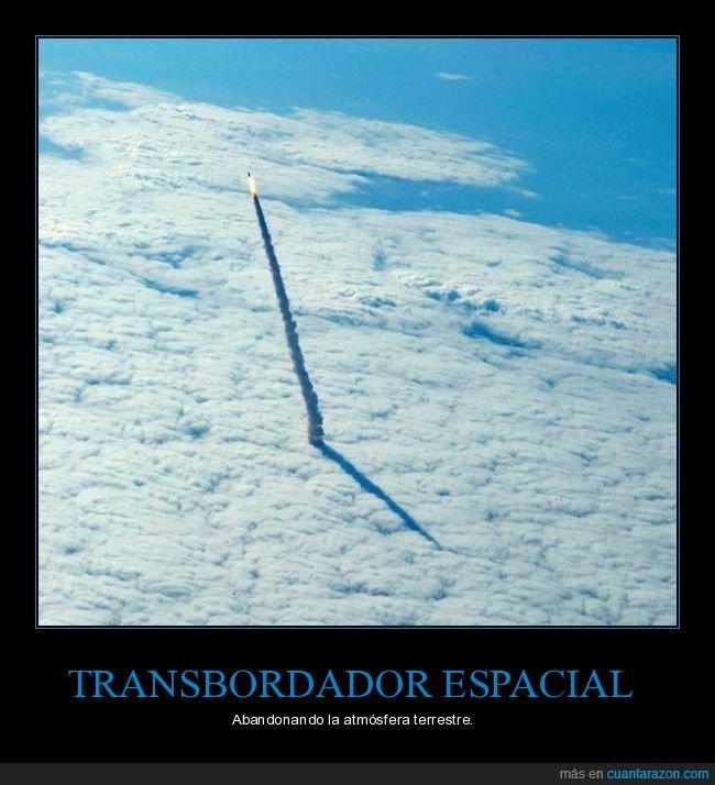 atmósfera,nubes,transbordador espacial