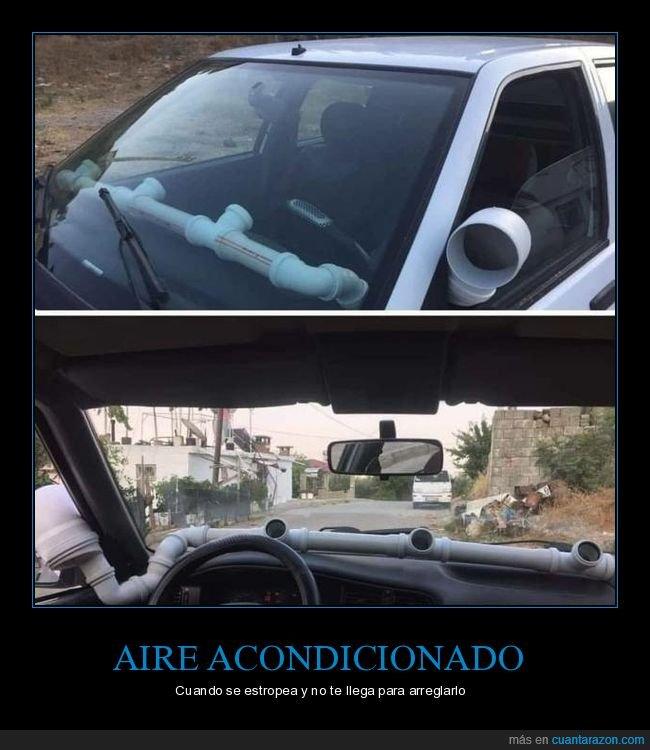 aire acondicionado,chapuza,coche,tubo