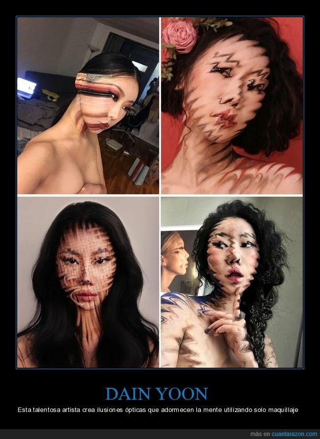 dain yoon,ilusiones ópticas,maquillaje