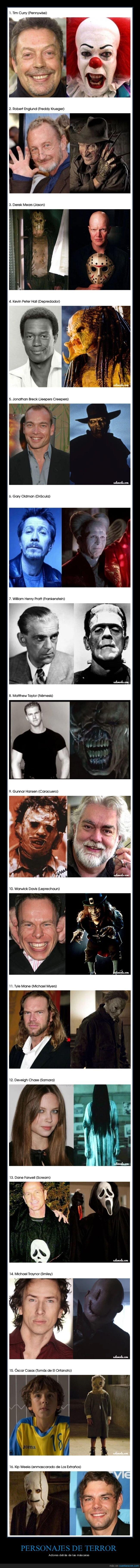 actores,cine,personajes,terror
