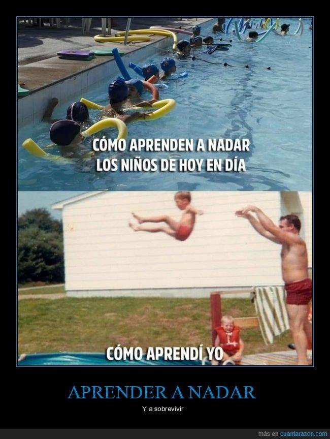 aprender,lanzar,nadar,piscina