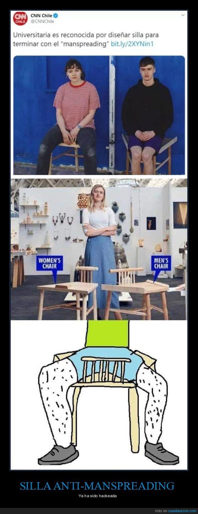 diseñar,manspreading,silla,wtf