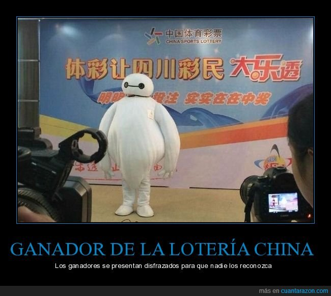 big hero 6,china,disfraz,ganador,lotería,wtf
