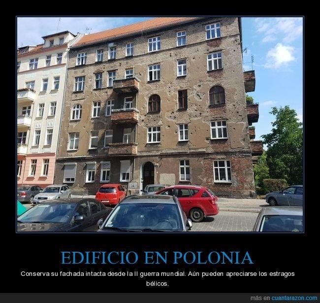 edificio,fachada,ii guerra mundial,polonia