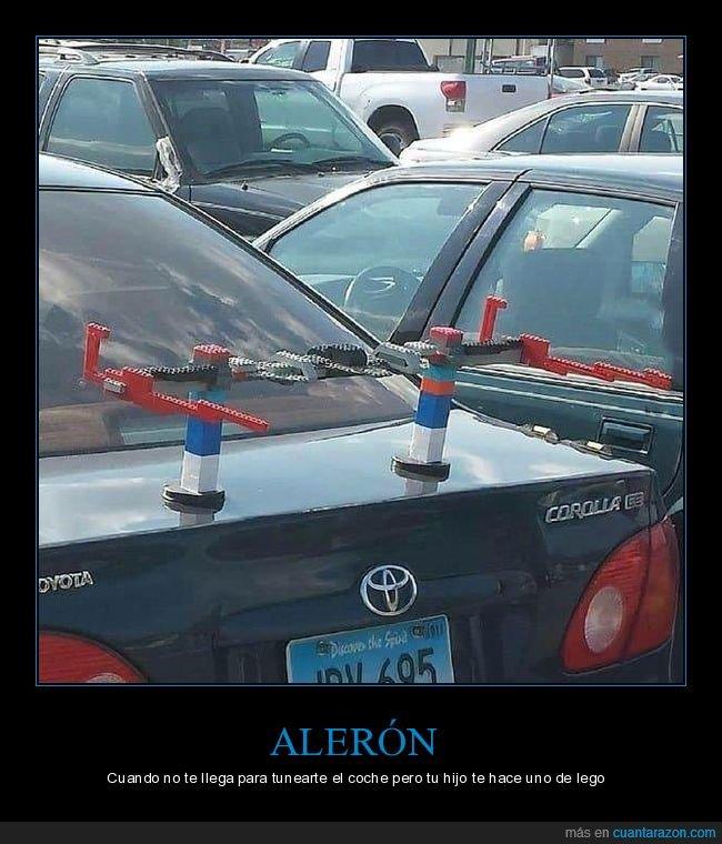 alerón,coche,lego