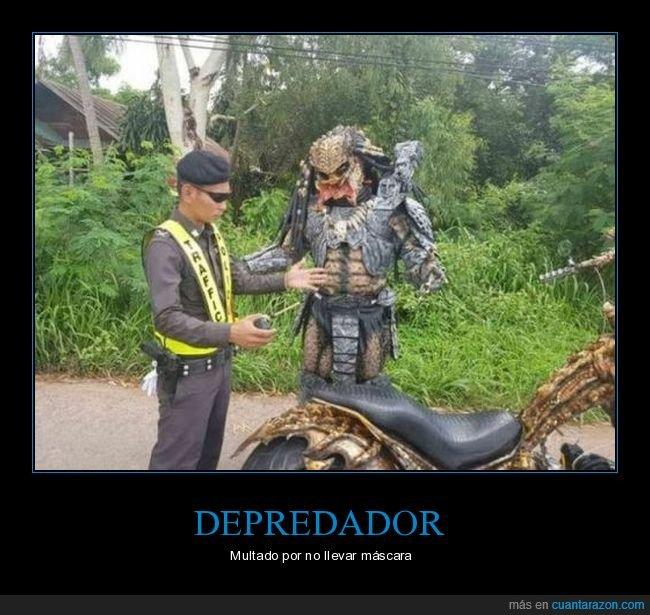 depredador,moto,multa,policía