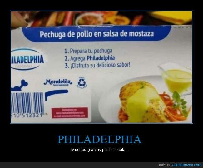 mostaza,pechuga,philadelphia,receta