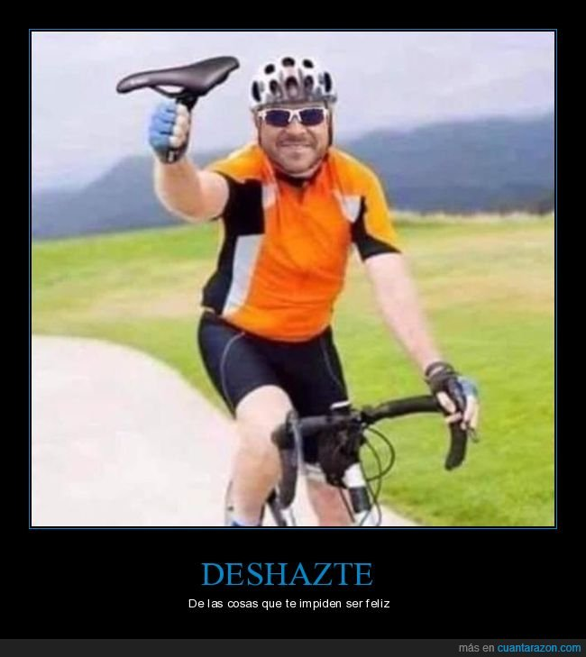 bicicleta,deshacerse,evitar,feliz,sillín