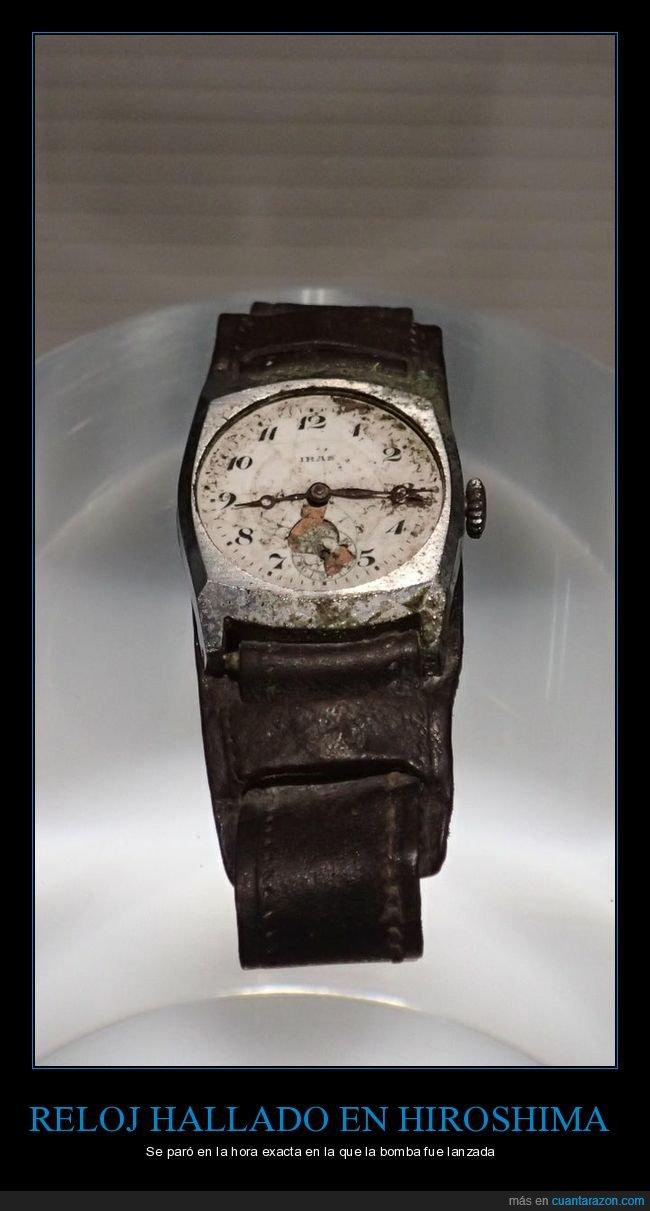 bomba atómica,hiroshima,reloj