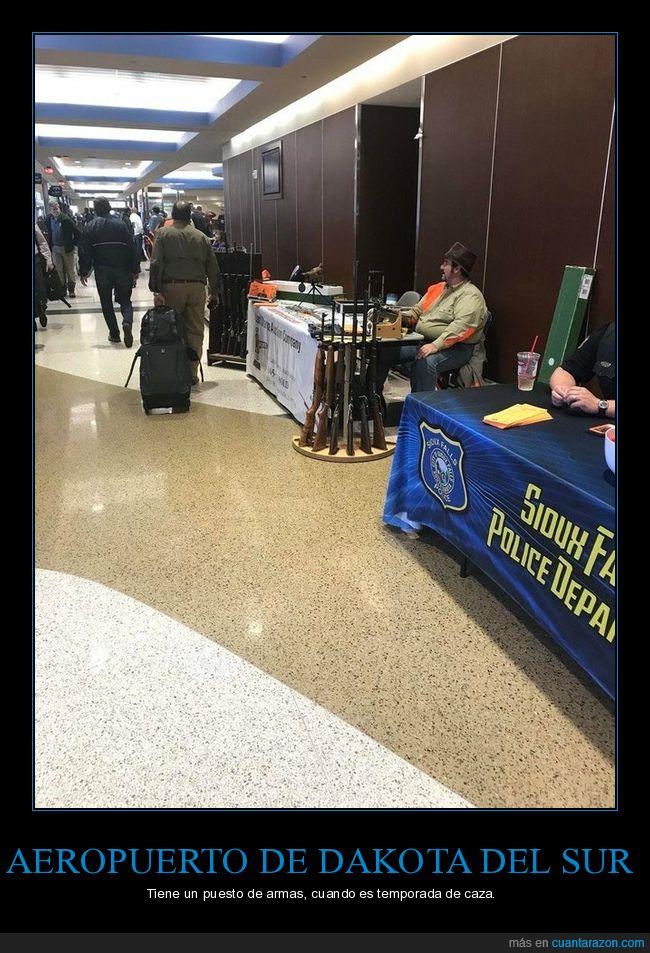 aeropuerto,armas,dakota del sur