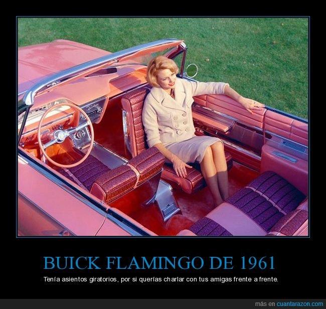 asientos,buick flamingo,coche,giratorios
