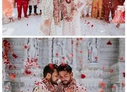 Enlace a Esta pareja gay india tuvo una ceremonia de boda tradicional en un templo hindú, y sus fotos se han vuelto virales