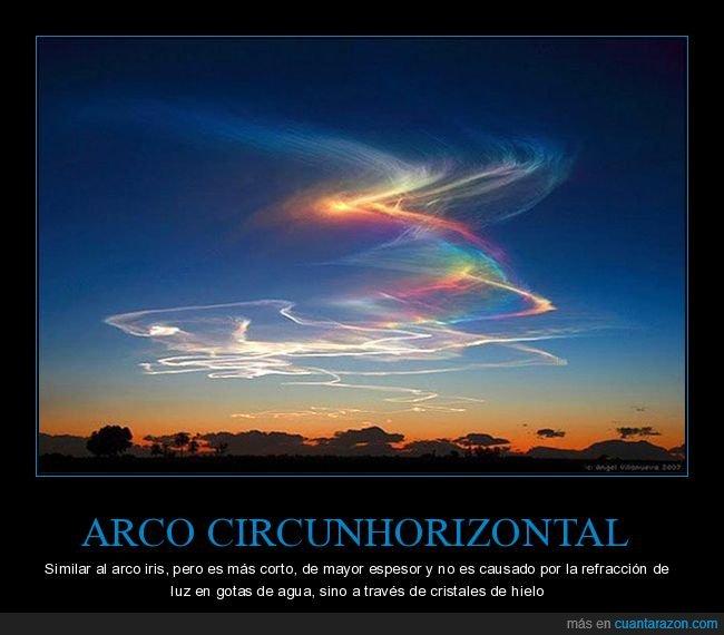 arco circunhorizontal,arcoiris,cilo,fenómeno