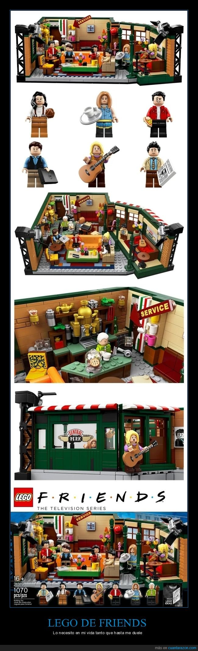 central perk,friends,lego,rachel,ross,serie