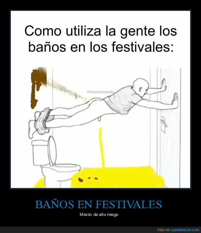 asco,baños,festivales,mear,sucio,wc