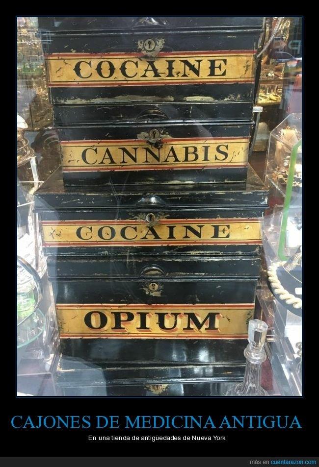 antigüedades,cajones,drogas,medicina