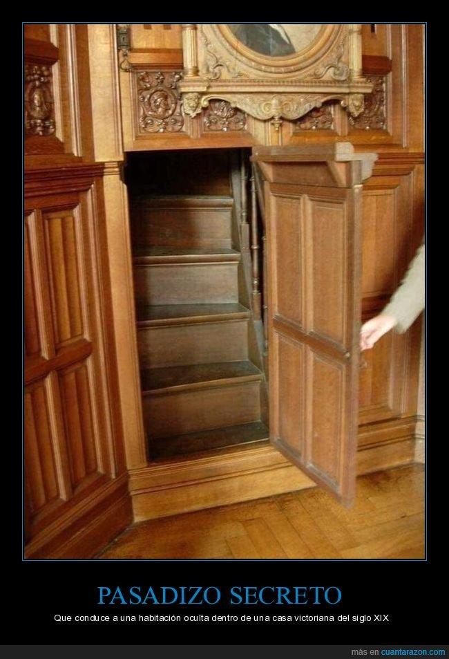 casa victoriana,habitación oculta,pasadizo secreto