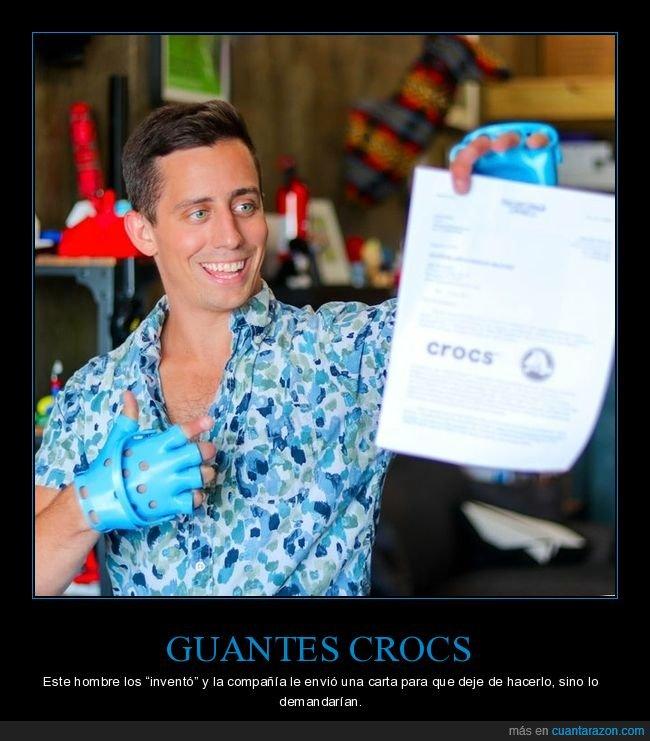 crocs,demandar,guantes