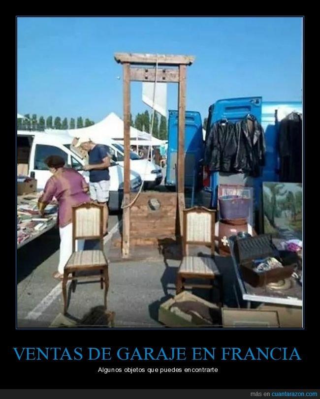 francia,guillotina,venta de garaje,wtf