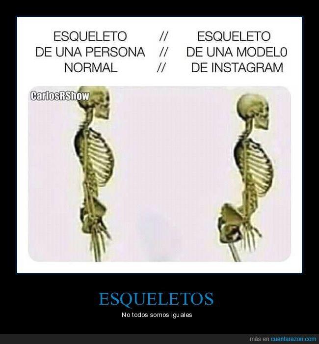 esqueleto,instagram