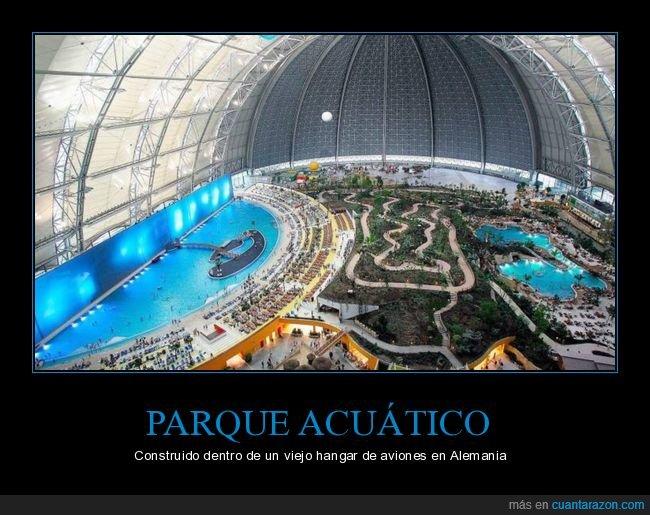 alemania,hangar,parque acuático