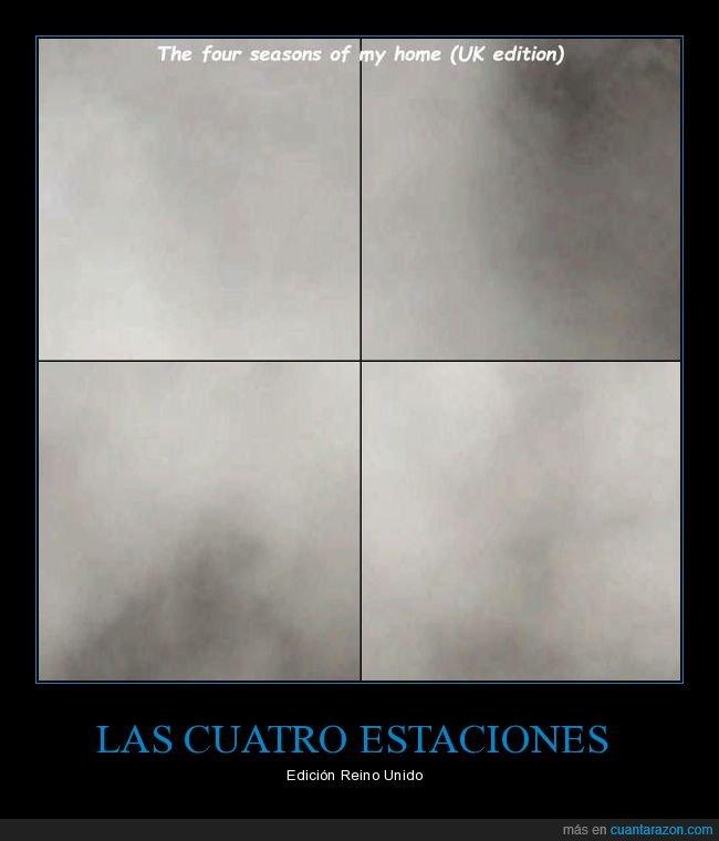 cuatro estaciones,nublado,reino unido