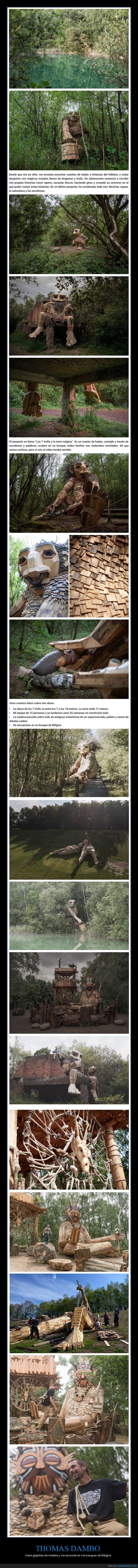 bosques,gigantes,madera,thomas dambo