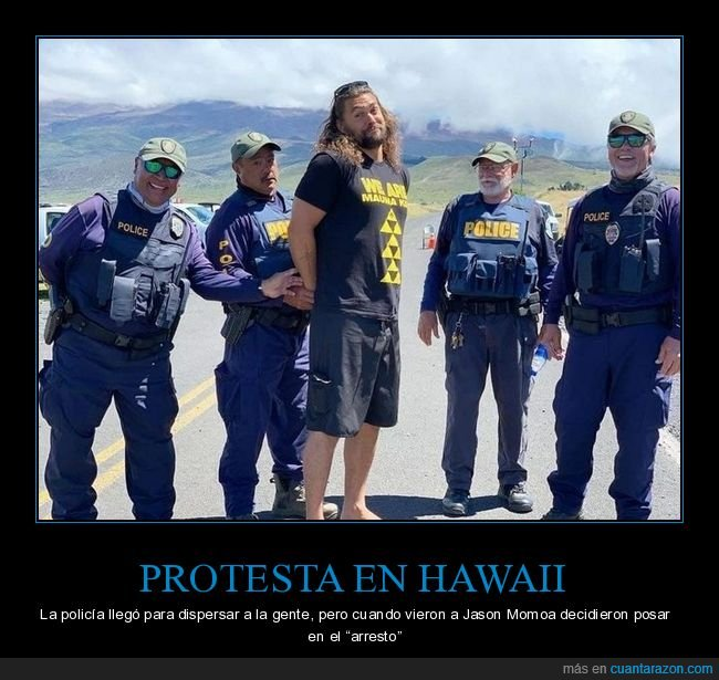 arresto,hawaii,jason momoa,posando,protesta
