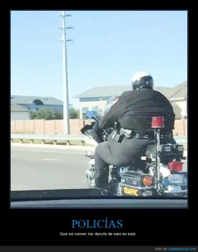 moto,policía,sobrepeso