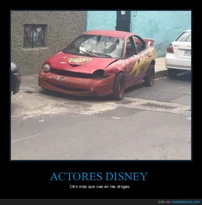 actor,cars,coche,drogas,rayo mcqueen