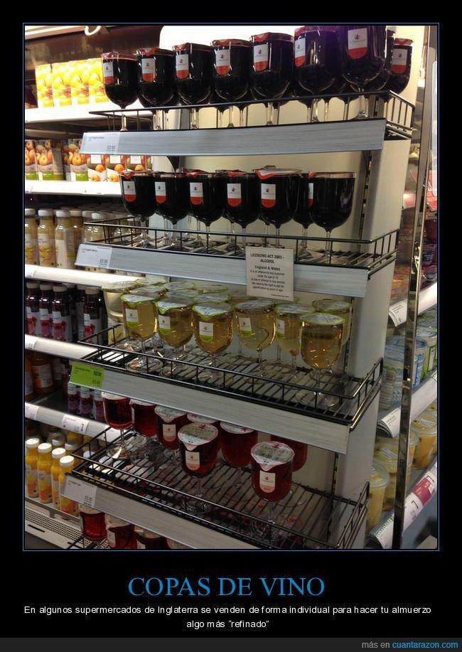 copas,inglaterra,supermercado,vino