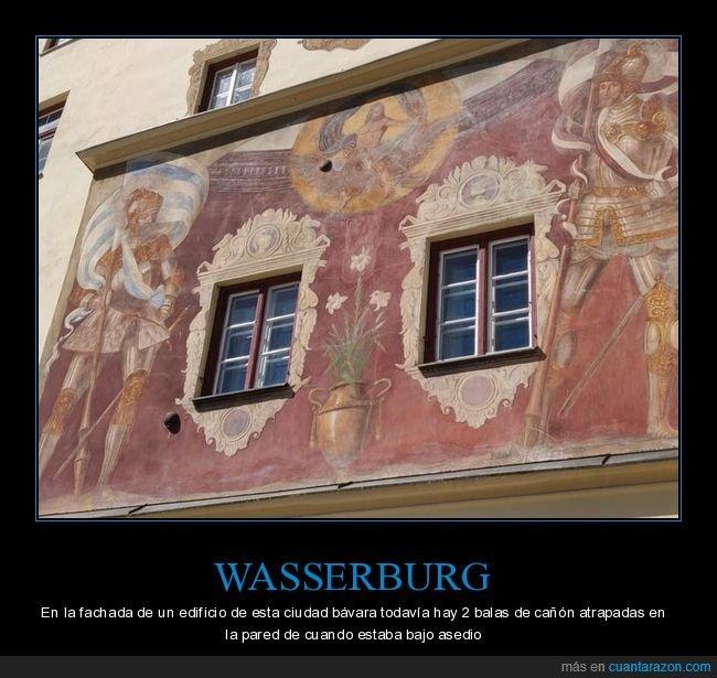 balas de cañón,edificio,wasserburg