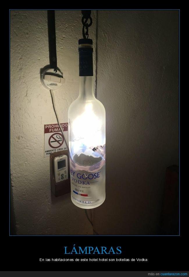 botella,hotel,lámpara,vodka