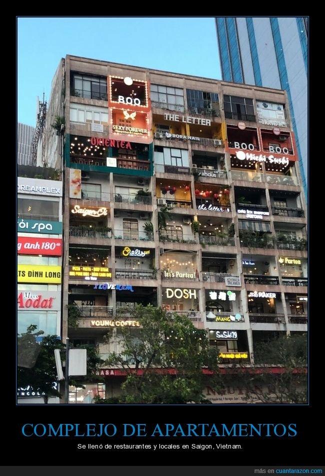 apartamentos,edificio,pisos,restaurantes