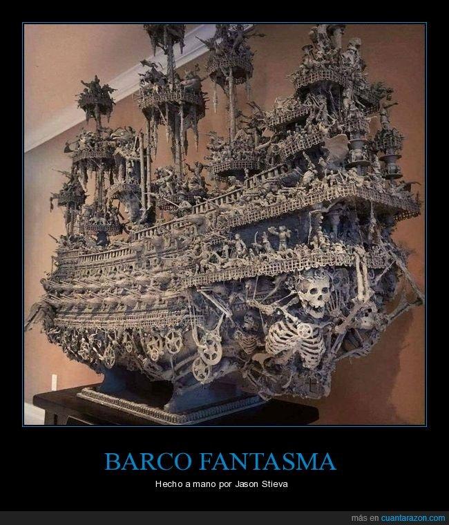 barco fantasma,jason stieva,maqueta
