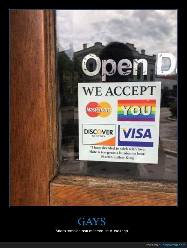 aceptar,cartel,gays,tarjetas,tienda,wtf