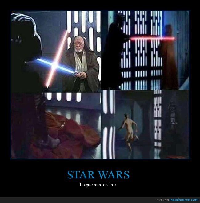 darth vader,desnudo,obi wan kenobi,star wars