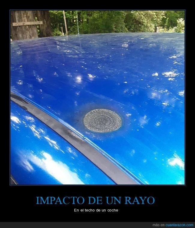 coche,impacto,rayo,techo