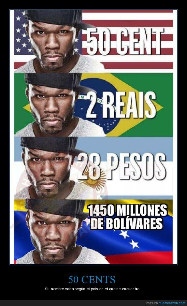 50 cent,absurdo,bolívares,inflación,monedas,venezuela