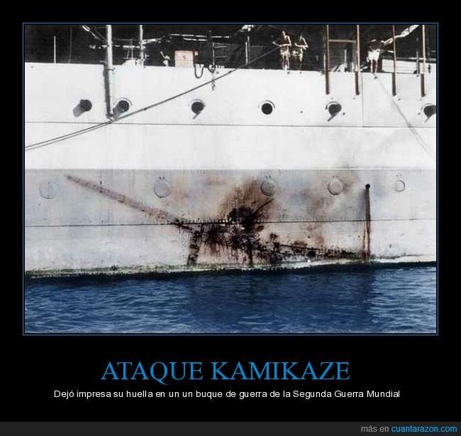 ataque,avión,buque,ii guerra mundial,kamikaze
