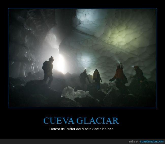 cueva,glaciar,monte santa helena